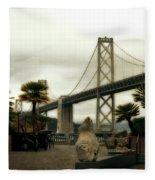 San Francisco Oakland Bay Bridge Fleece Blanket