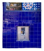 San Francisco Pay Phone Fleece Blanket