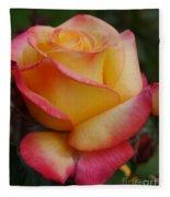 San Francisco Rose Garden Rose Fleece Blanket