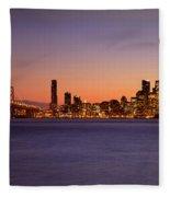 San Francisco Skyline Fleece Blanket