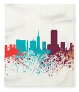 San Francisco Skyline Paint Fleece Blanket