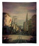 San Francisco Street Fleece Blanket