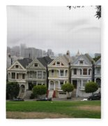 San Francisco - The Painted Ladies I Fleece Blanket