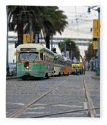 San Francisco Trolleys Fleece Blanket