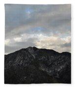 San Gabriel Mountains Evening Fleece Blanket