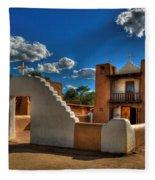 San Geronimo Church Taos Pueblo Fleece Blanket
