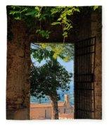 San Gimignano Door Fleece Blanket