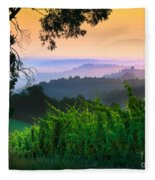 San Gimignano Hills Fleece Blanket