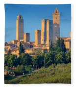 San Gimignano Skyline Fleece Blanket