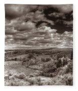 San Gimignano View Fleece Blanket
