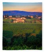 San Gimignano Vineyards Fleece Blanket