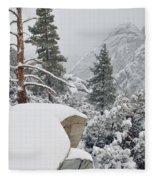 San Jacinto Winter Wilderness Fleece Blanket