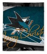San Jose Sharks Christmas Fleece Blanket