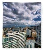 San Juan Puerto Rico Cityscape Fleece Blanket