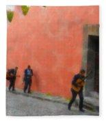 San Miguel De Allende Mexico Streets Fleece Blanket