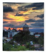 San Miguel De Allende Sunset Fleece Blanket