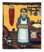San Pascual Making Biscochitos Fleece Blanket