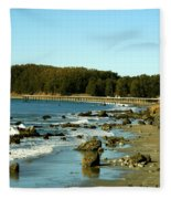 San Simeon Pier Fleece Blanket