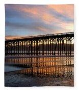 San Simeon Pier Fleece Blanket