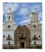 San Xavier Del Bac Mission Facade Fleece Blanket