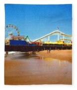 Sana Monica Pier Fleece Blanket