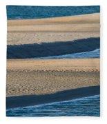 Sand And Water Textures Abstract Fleece Blanket