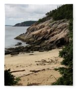 Sand Beach Acadia Park Fleece Blanket