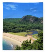 Sand Beach And The Beehive Fleece Blanket