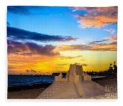 Sand Castle 1 Fleece Blanket
