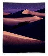 Sand Dunes At Sunrise Fleece Blanket