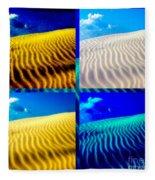 Sand Dunes Collage Fleece Blanket