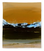 Sand Dunes In White Fleece Blanket