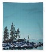 Sand Harbor-lake Tahoe Fleece Blanket
