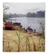 Sand Mining Fleece Blanket