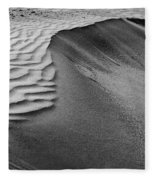 Sand Pattern Abstract - 2 - Black And White Fleece Blanket