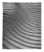 Sand Pattern Abstract - 3 - Black And White Fleece Blanket