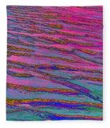 Sand Pattern One  Fleece Blanket
