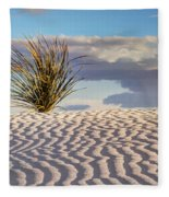 Sand Patterns And The Yucca Fleece Blanket