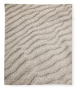 Sand Ripples Natural Abstract Fleece Blanket
