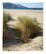 Sand Sea Mountains - Crete Fleece Blanket