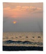 Sand Sea Sun Fleece Blanket