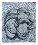 Sandals - Doodle  Fleece Blanket