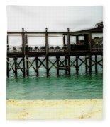 Sandals Resort Nassau Pier Fleece Blanket