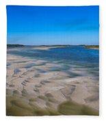 Sandbars On The Fort George River Fleece Blanket