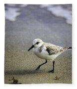 Sanderling On The Shore Fleece Blanket