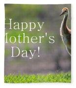 Sandhill Chick Mother's Day Card Fleece Blanket