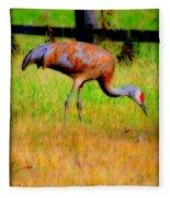 Sandhill Crane I Fleece Blanket