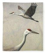 Sandhill Cranes Fleece Blanket