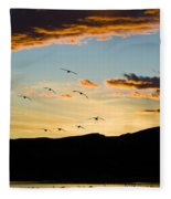 Sandhill Cranes In New Mexico Fleece Blanket