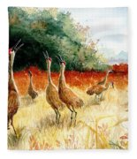 Sandhill Serenade Fleece Blanket